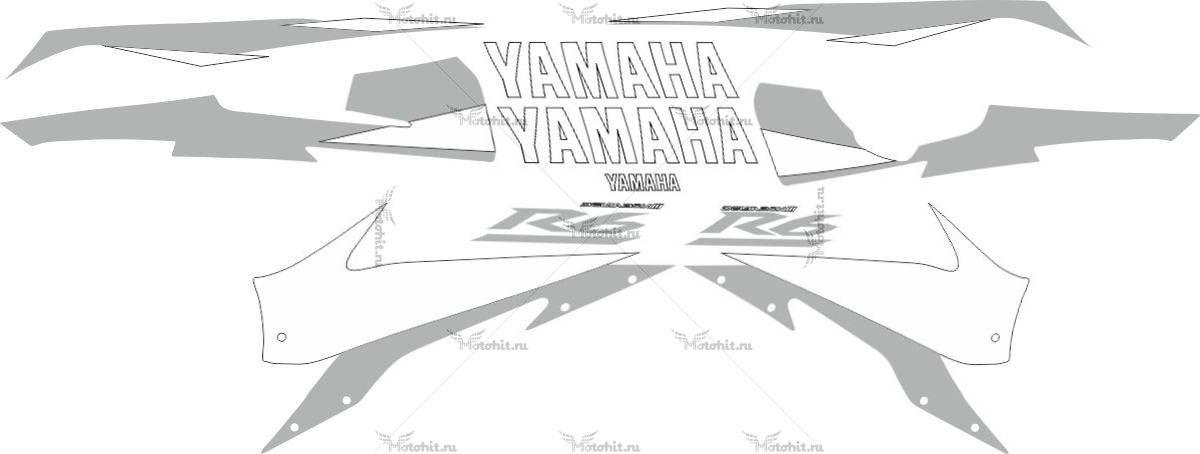 Комплект наклеек Yamaha YZF-R6 2005