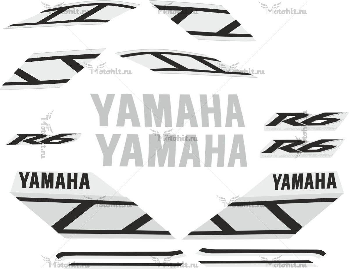 Комплект наклеек Yamaha YZF-R6 2006 50TH-ANNIVERSARY