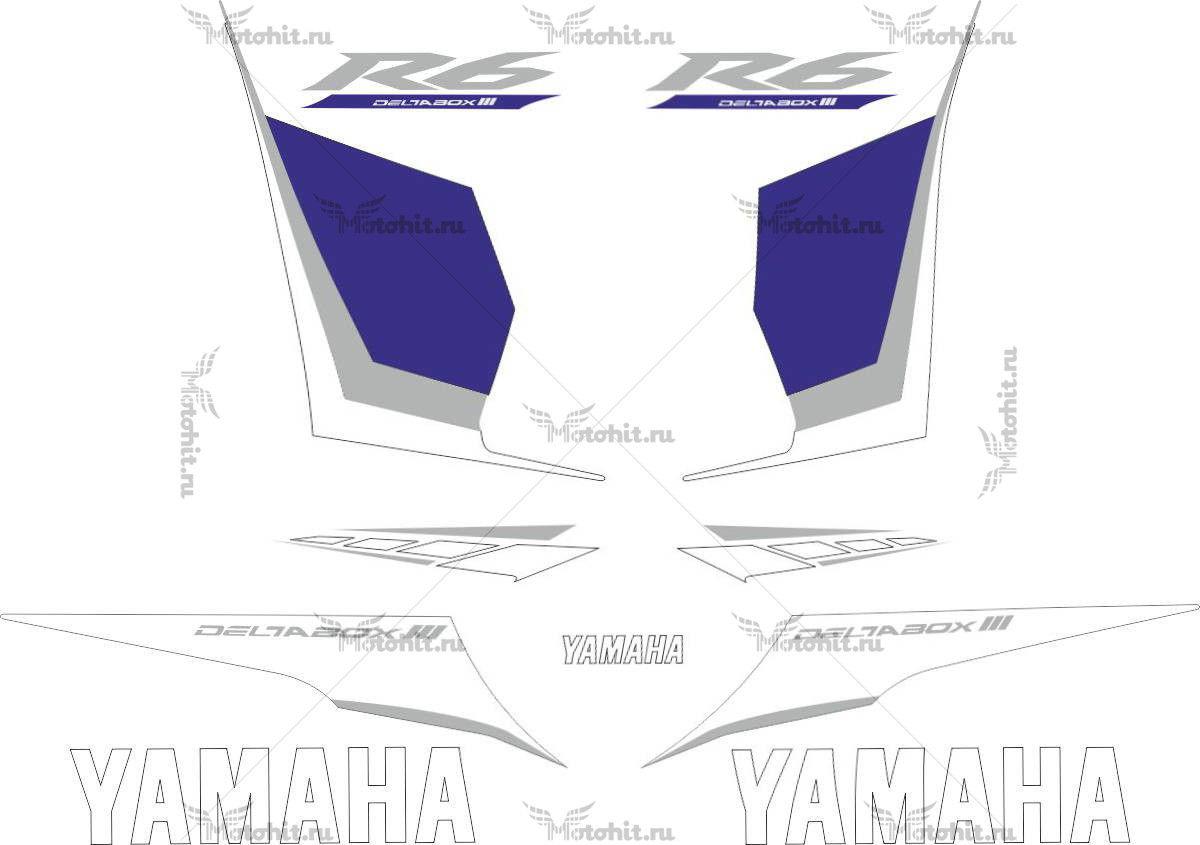 Комплект наклеек Yamaha YZF-R6 2008
