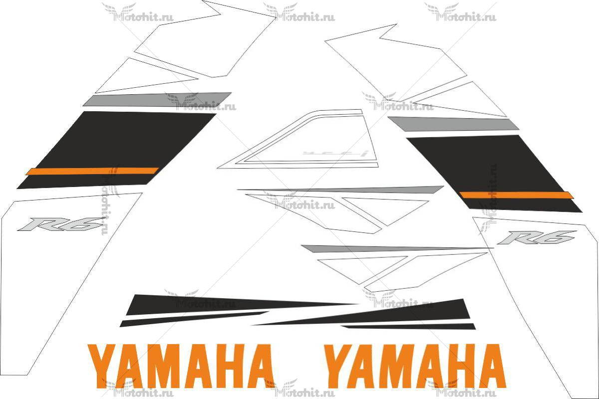 Комплект наклеек Yamaha YZF-R6 2008-2009