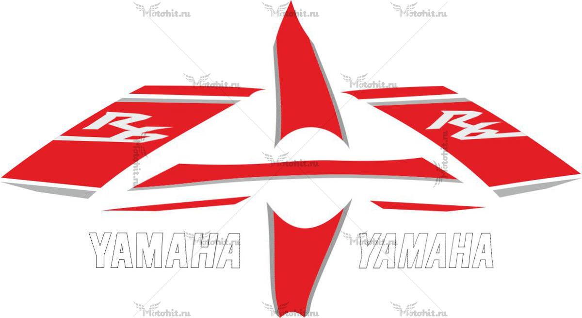 Комплект наклеек Yamaha YZF-R6 2008-2009 RED