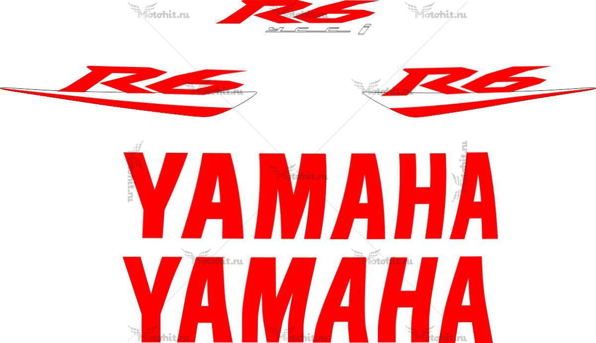 Комплект наклеек Yamaha YZF-R6 2008 RED-LOGO