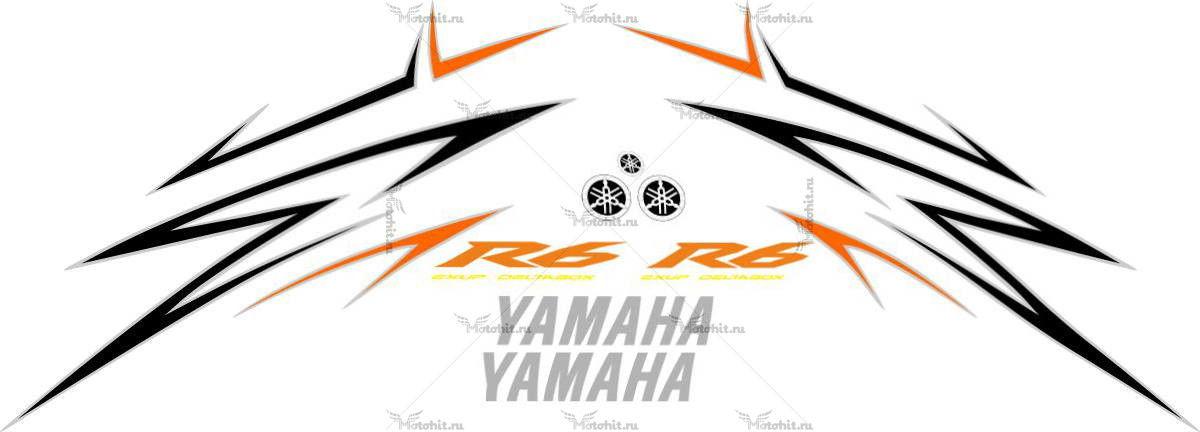 Комплект наклеек Yamaha YZF-R6 2009 ORANGE