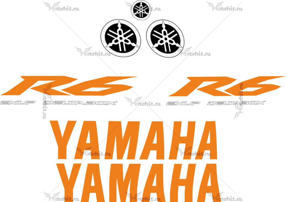 Комплект наклеек Yamaha YZF-R6 2009 ORANGE-2