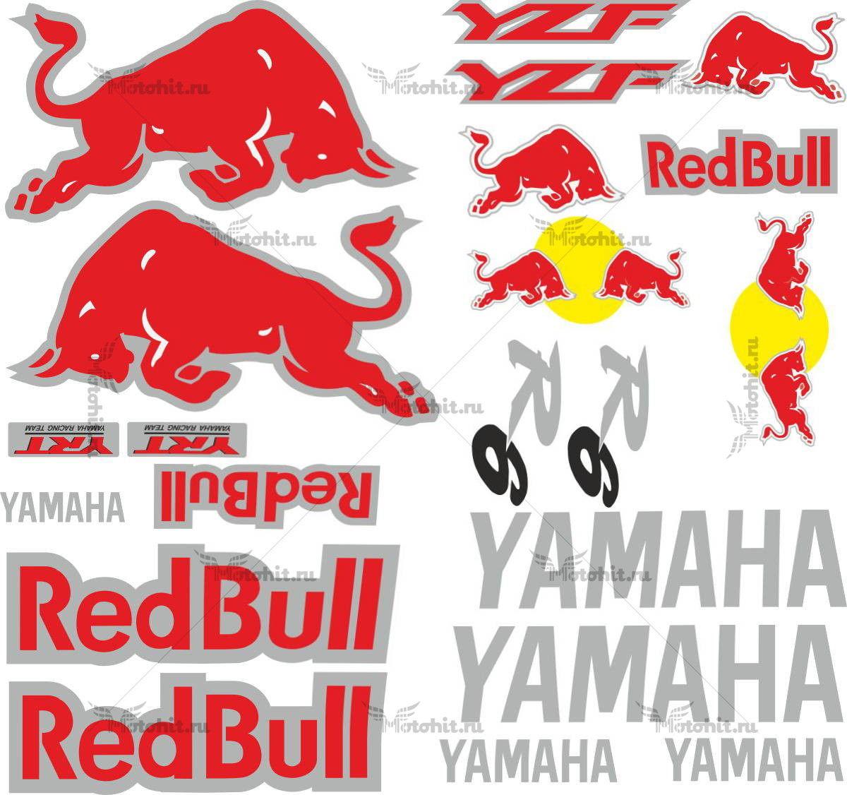 Комплект наклеек Yamaha YZF-R6 REDBULL