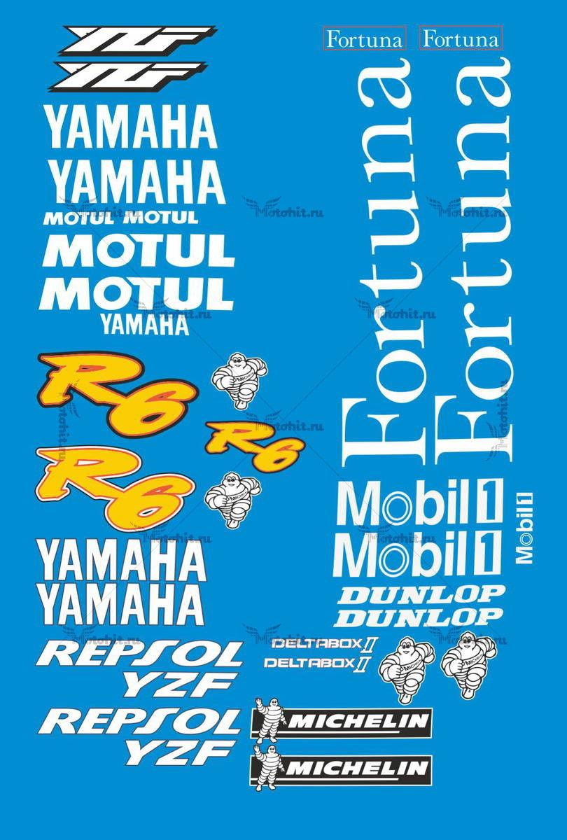 Комплект наклеек Yamaha YZF-R6 TELE
