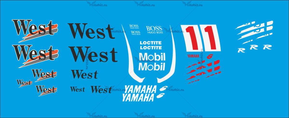 Комплект наклеек Yamaha YZF-R6 WEST