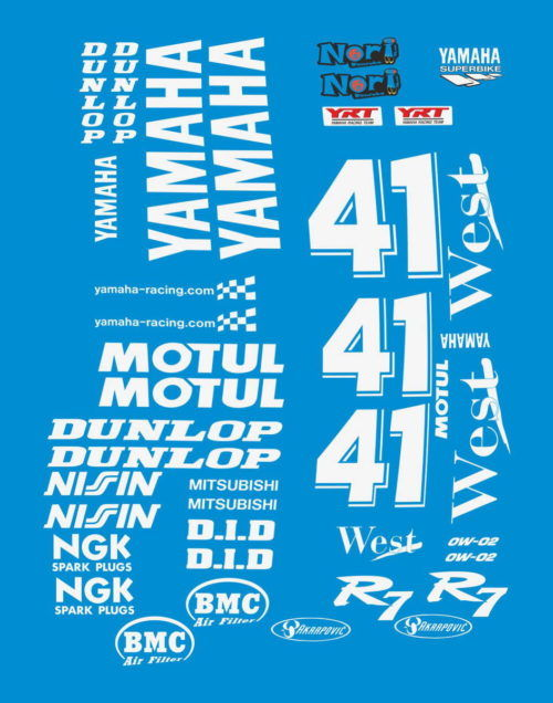 Комплект наклеек Yamaha R7 HAGA