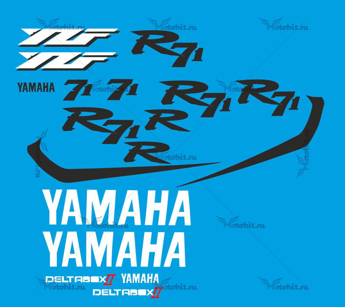 Комплект наклеек Yamaha R71 KIT