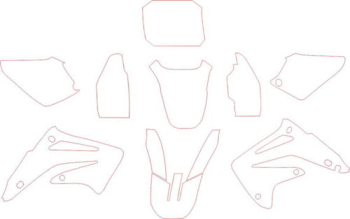 Комплект наклеек Honda CR-85 2004-2008