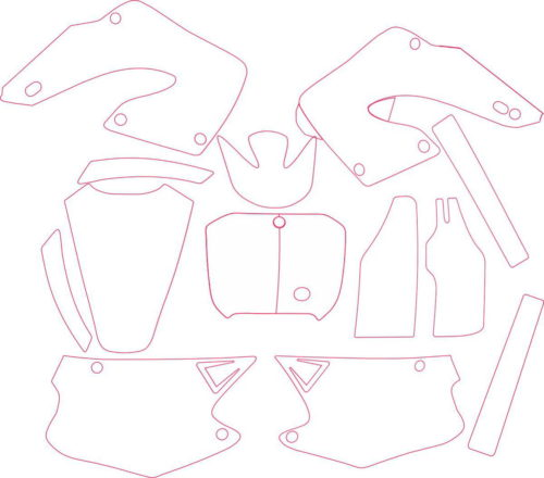 Комплект наклеек Honda CR-125-250 2000-2001-2
