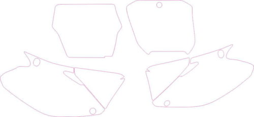 Комплект наклеек Honda CR-125-250 2002-2012 PLATES