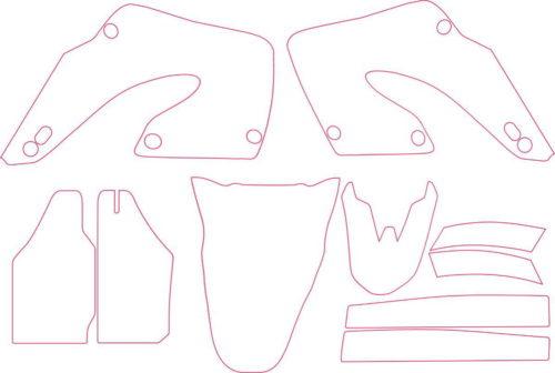Комплект наклеек Honda CR-125 2001