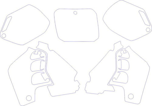 Комплект наклеек Honda CR-500 2000