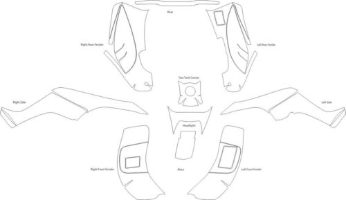 Комплект наклеек Honda TRX-250 2001-2004