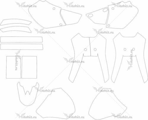 Комплект наклеек Honda XR-400