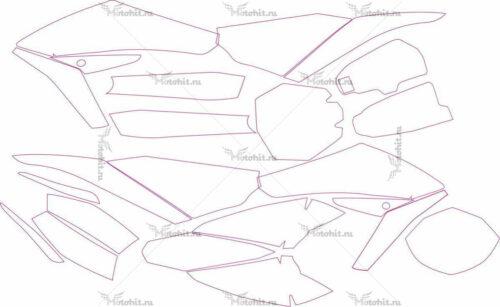 Комплект наклеек HUSQVARNA-TE-449-SMR 511