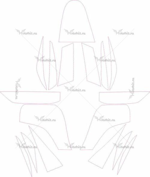 Комплект наклеек Kawasaki KFX-90