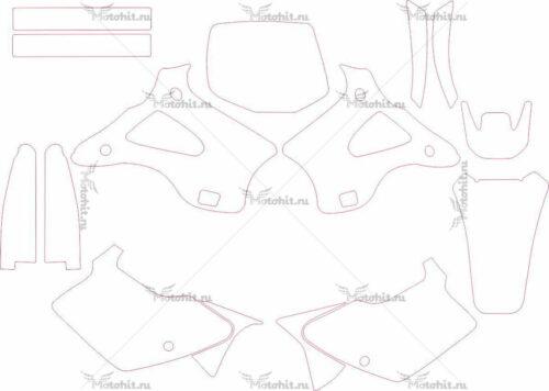 Комплект наклеек Kawasaki KX-125 KX-250 1994-1998