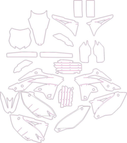 Комплект наклеек Kawasaki KXF-250 2014