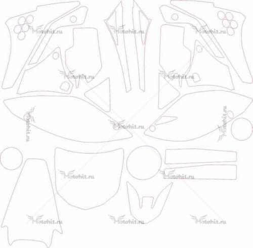 Комплект наклеек Kawasaki KXF-250 MONSTER