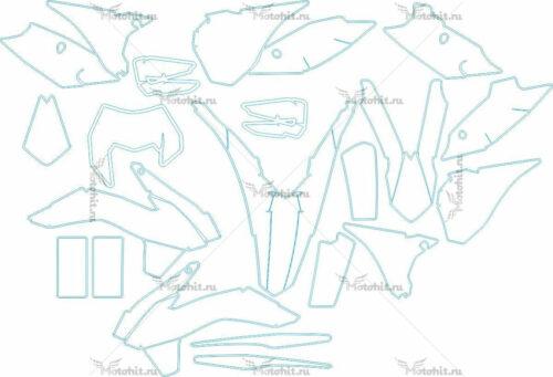 Комплект наклеек KTM EXC-125-200-250-300 2014