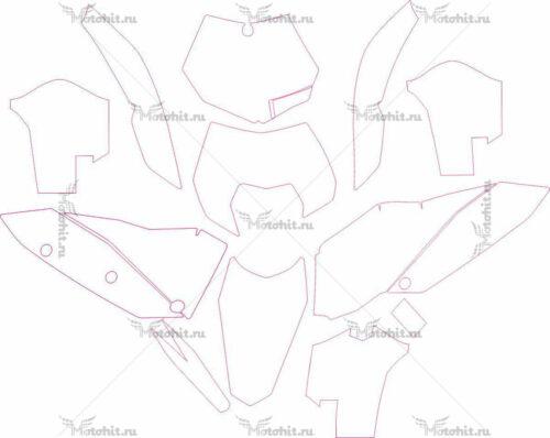 Комплект наклеек KTM EXC-250-450 2009