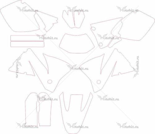Комплект наклеек KTM EXC 2001-2002 2