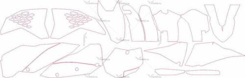 Комплект наклеек KTM EXC 2008-2010