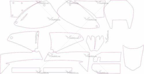 Комплект наклеек KTM LC4