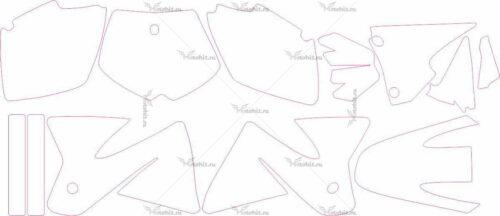 Комплект наклеек KTM SX 1998-2000 2
