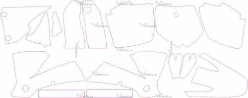Комплект наклеек KTM SX 2001-2002