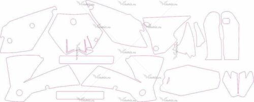 Комплект наклеек KTM SX 2003-2004 2