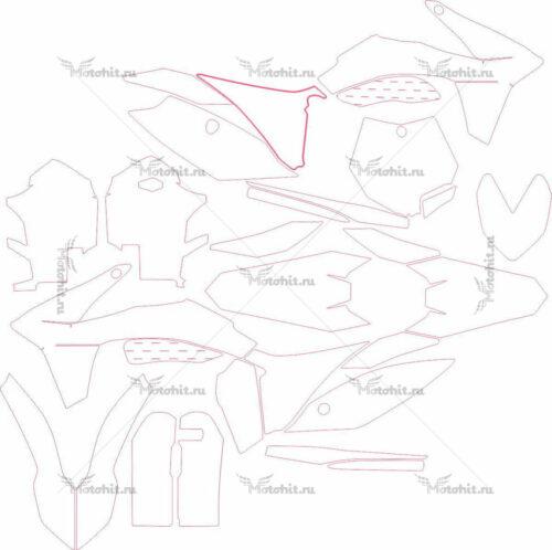 Комплект наклеек KTM SX 2011 RANGE