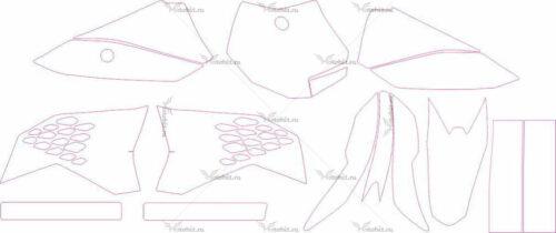 Комплект наклеек KTM SX-50 2009-2012