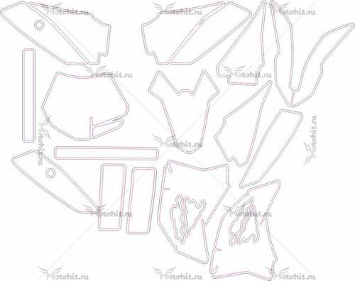 Комплект наклеек KTM SX-50 2013