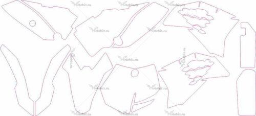 Комплект наклеек KTM SX-65 2009-2010