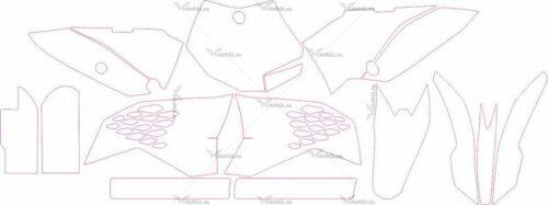 Комплект наклеек KTM SX-65 2009-2012