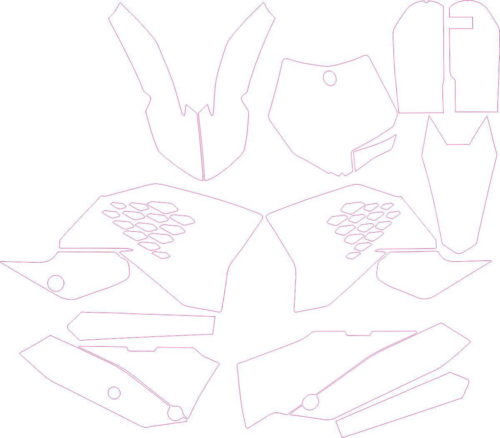 Комплект наклеек KTM SX-65 2010-2012