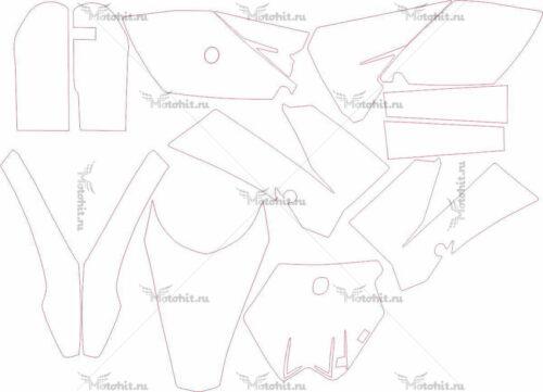 Комплект наклеек KTM SX-85 2011