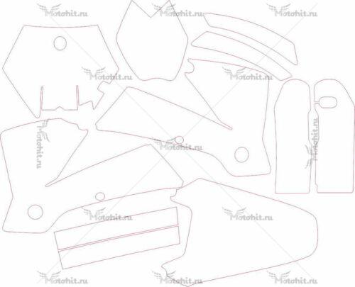 Комплект наклеек KTM SX-99 2004