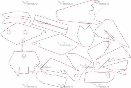 Комплект наклеек KTM SX-99 2005
