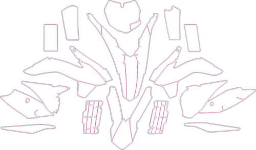 Комплект наклеек KTM SX-F-250-350-450 2013