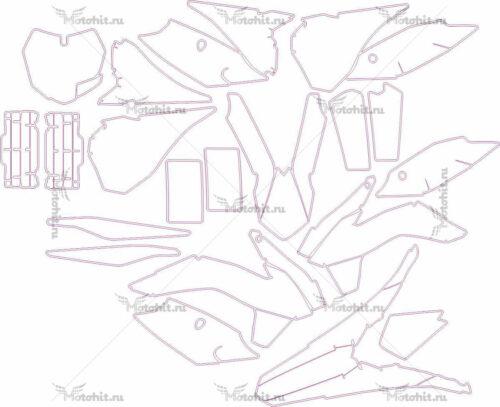 Комплект наклеек KTM SX-F-250-350-450 2014