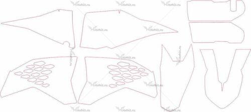 Комплект наклеек KTM SXF 2007