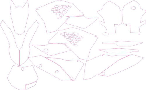 Комплект наклеек KTM SXF 2007-2010-2