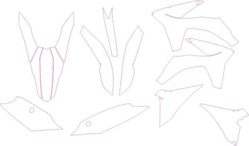 Комплект наклеек KTM SXF 2011-2012-2