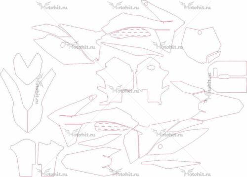 Комплект наклеек KTM SXF 2011 RANGE