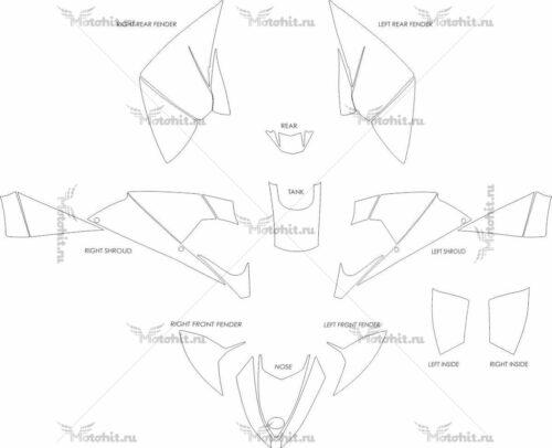 Комплект наклеек POLARIS OUTLAW-525 2009