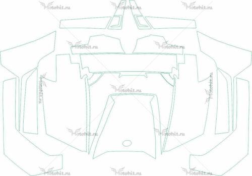 Комплект наклеек POLARIS RZR-800 2011-2015